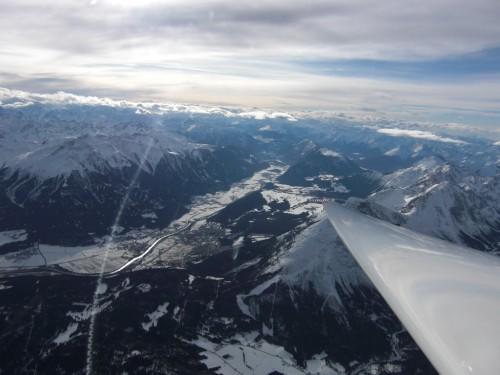 In 4.500 Meter Höhe in der Föhnwelle über Leutasch