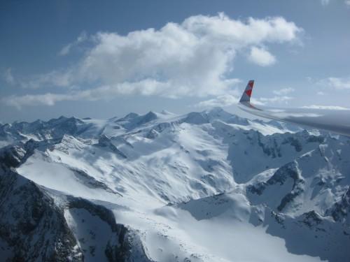 Blick auf den Alpenhauptkamm