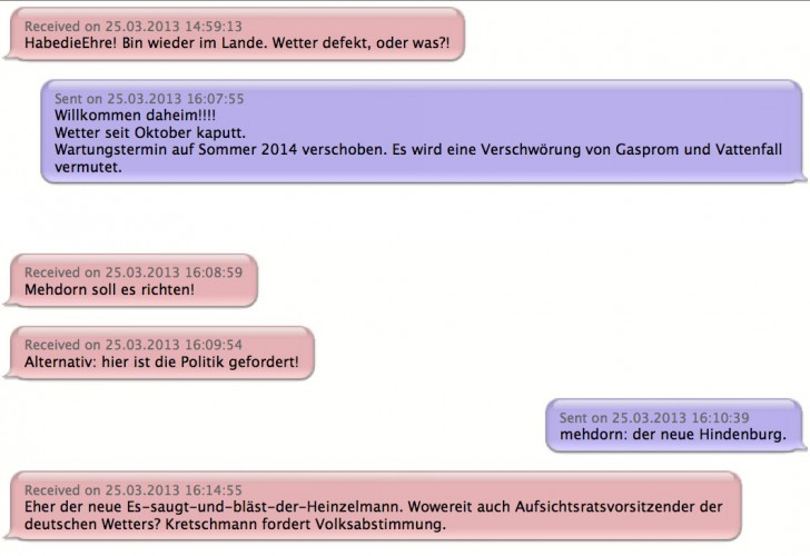 Messages with Jan Lyczywek